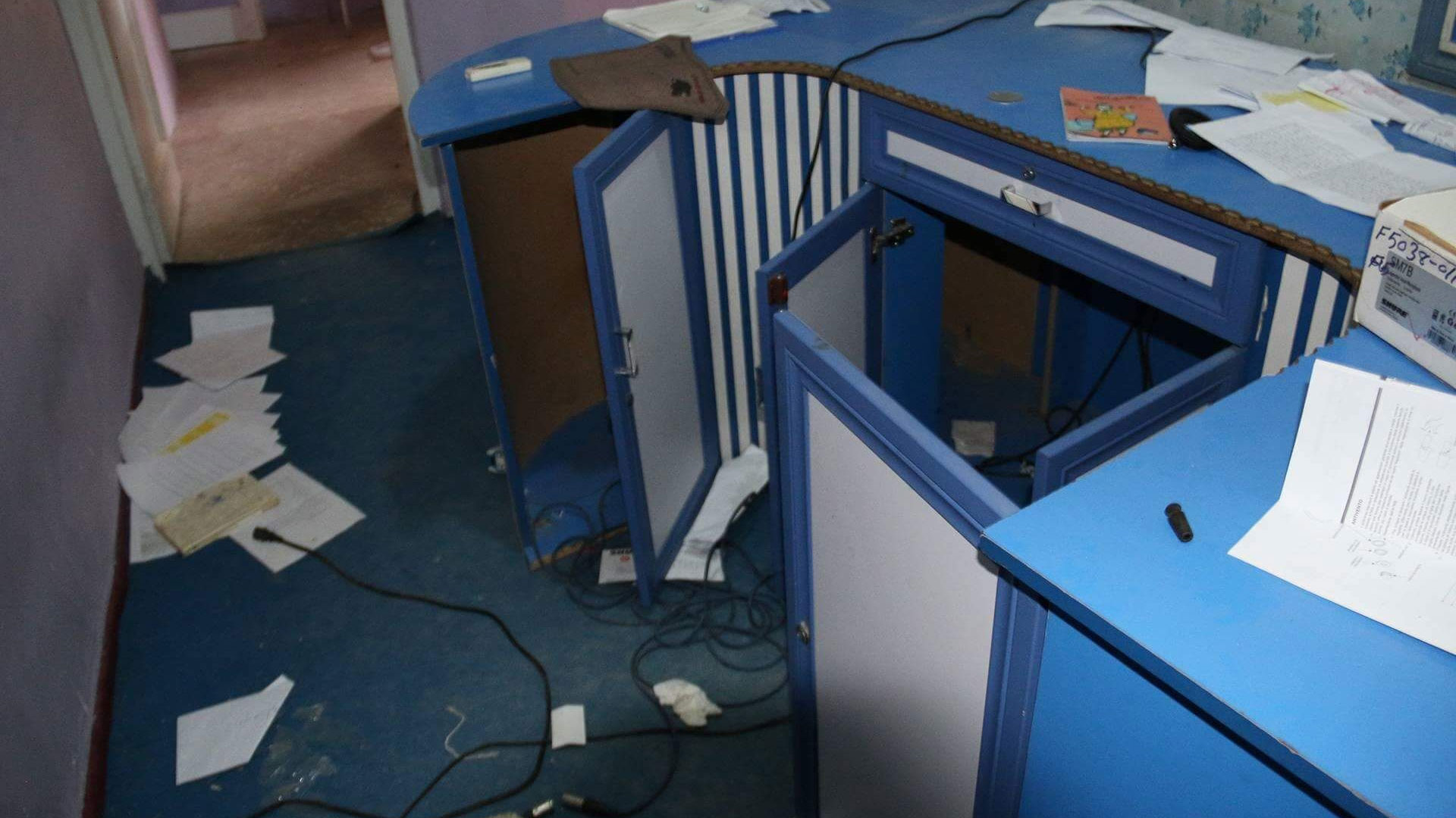 Radio Roshani's office, looted by Taliban in 2015.