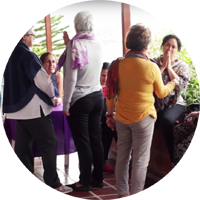 women in colombia in a negotiation training