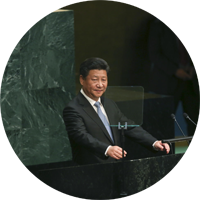 Chinese President Xi Jinping presents peace proposal at the UN. Photo Courtesy of The New York Times/Damon Winter