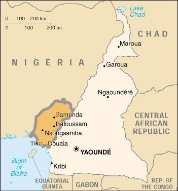 Cameroons Anglophone Uprising A Crisis Overlooked United States - Us-attention-on-the-middle-east-outline-map-answers