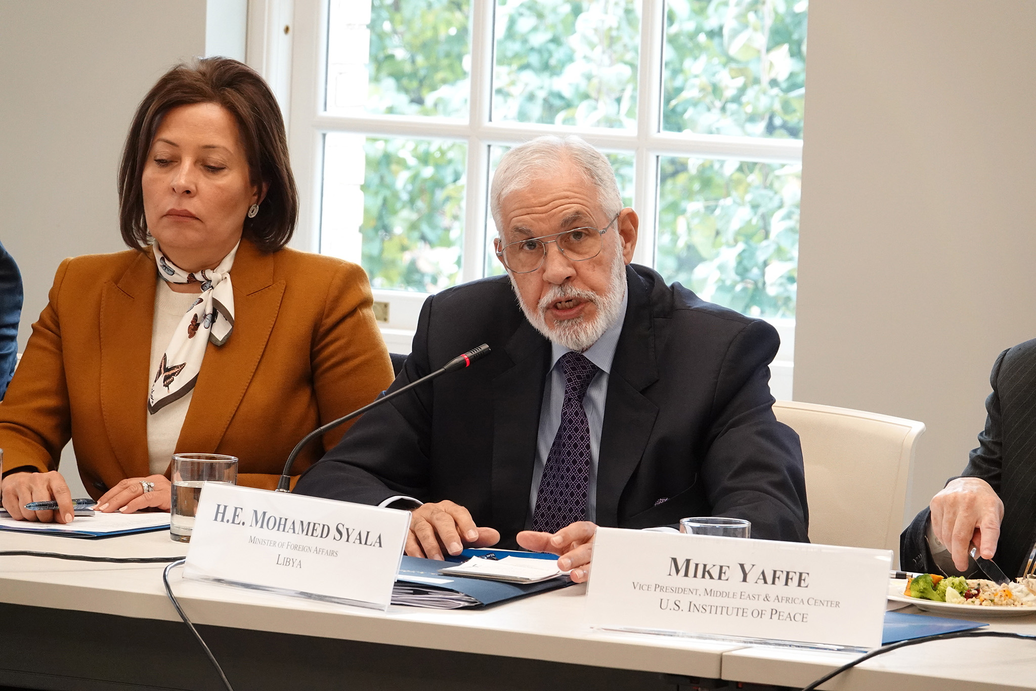 Government of National Accord Foreign Minister Mohamed Syala speaks at USIP, Nov. 15, 2019.