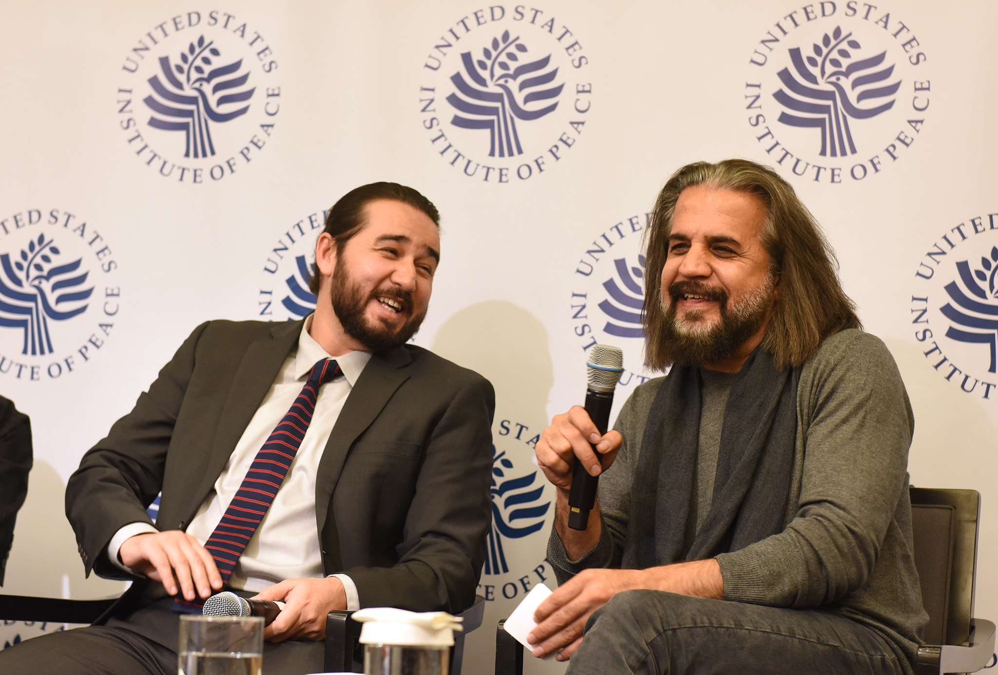 ArtLords cofounders Omaid Sharifi and Kabir Mokamel share their vision for ArtLords and Afghanistan at USIP, January 28, 2020.
