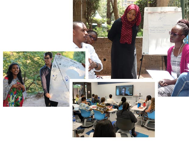 collage of USIP trainings