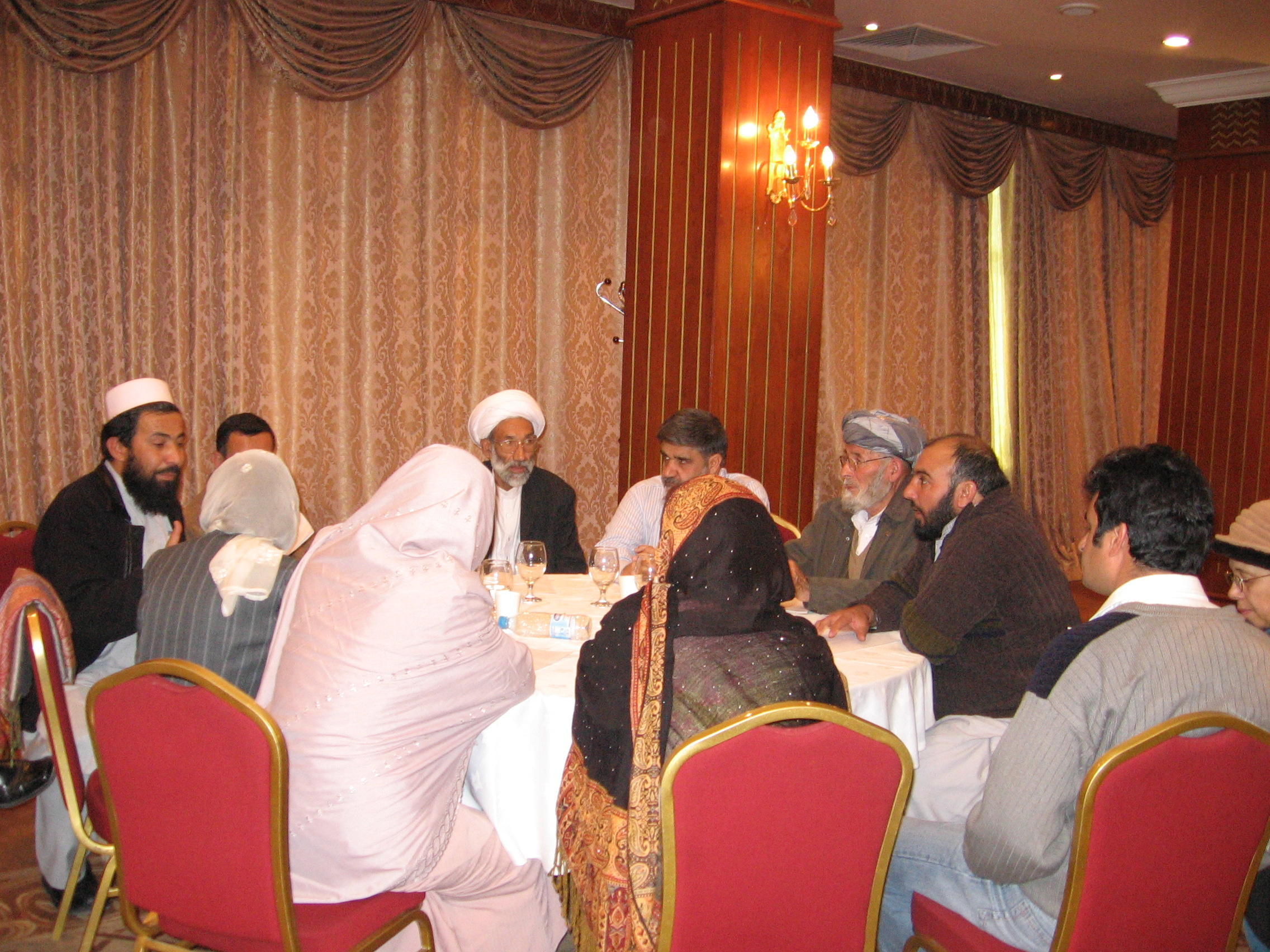 Roundtable discussion with conference participants