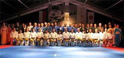 Group photo of Kata World Cup participants. (Photo: U.S. Institute of Peace)
