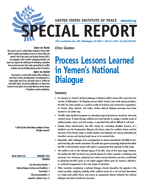 Larned (KS) United States  city photos gallery : Process Lessons Learned in Yemen's National Dialogue | United States ...