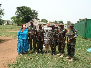 USIP Academy Trainers with Some of the Ugandan Women Soldiers Deploying to Somalia