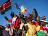Peace marchers against etnic violence reach the summit of Mt. Kenya (CREDIT: New York Times)