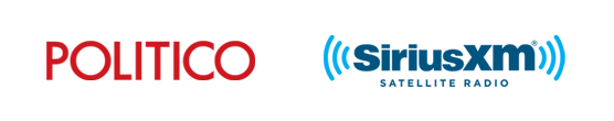 Logos for Politico and Sirius