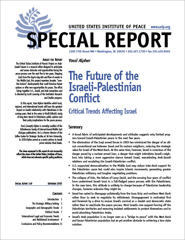 an analysis of the factors affecting the israeli palestinian conflict My view is that the israeli-palestinian conflict proceeds through a pattern of four stages: 1 both sides fight for the right to exist 2 the tension escalates 3 pressure leads to negotiations 4 peace efforts break down.