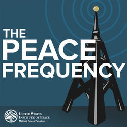 USIP and Sirius XM On Peace podcast logo