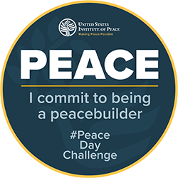"""I commit to being a peace builder"" round"