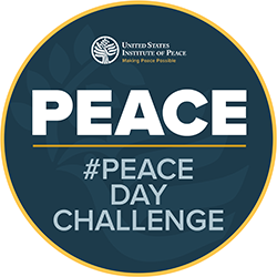#peacedaychallenge badge