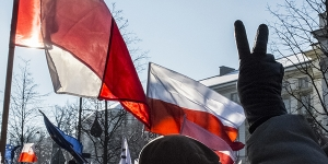 #KOD demonstration in Warsaw against surveillance law and recent governemt policies