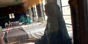 Inno Usman waits for her surgery to repair an obstetric fistula at the Babbar Ruga Hospital in Katsina, Nigeria