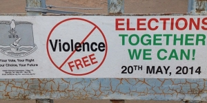 poster for no violence in election