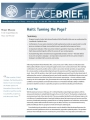 Peace Brief: Haiti: Turning the Page?