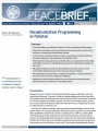 PeaceBrief: Deradicalization Programming in Pakistan