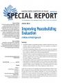 Special Report:  Improving Peacebuilding Evaluation