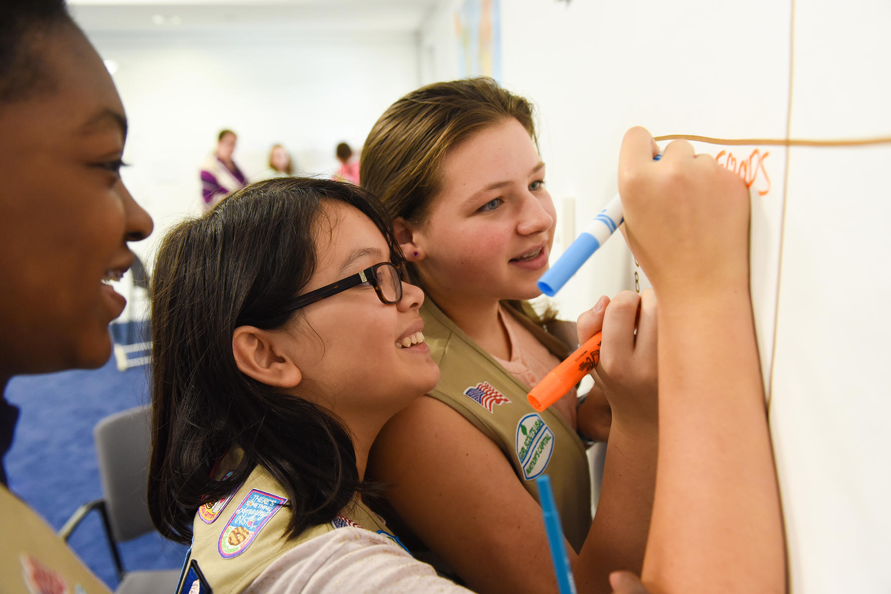 Girls Scouts participating in USIP public education program