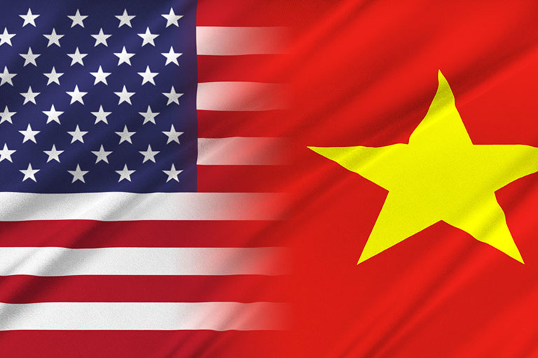 U.S. and Vietnam Flags