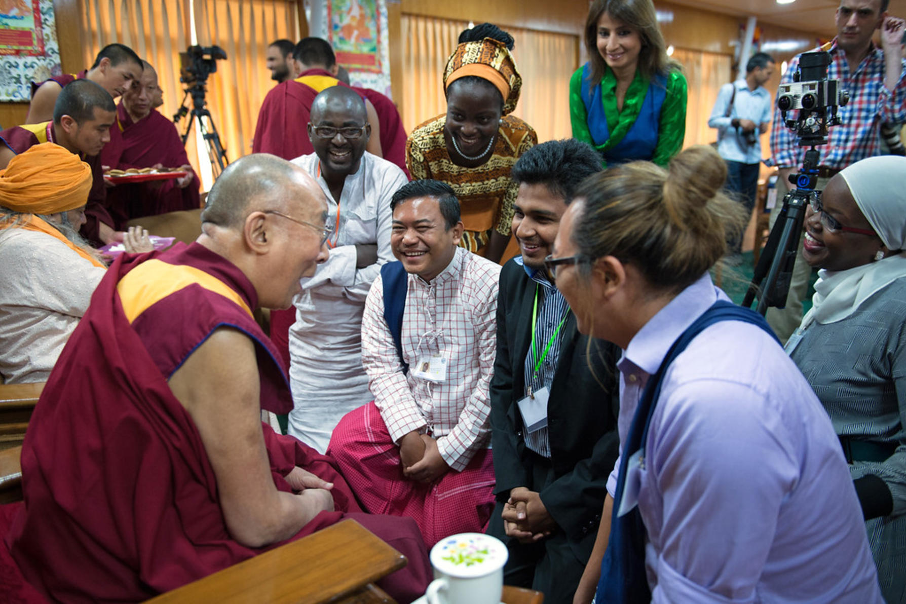 Dalai Lama and generation change fellows