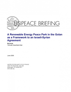 A Renewable Energy Peace Park in the Golan as a Framework to an Israeli-Syrian Agreement