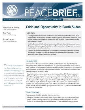 peace brief 164 cover