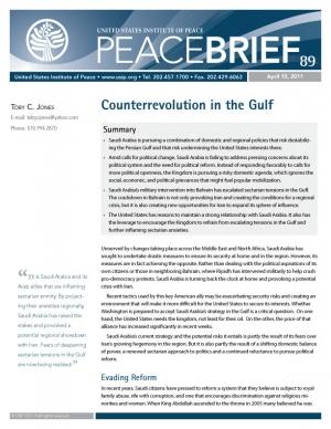 Peace Brief: Counterrevolution in the Gulf