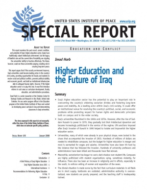 Special Report: Higher Education and the Future of Iraq