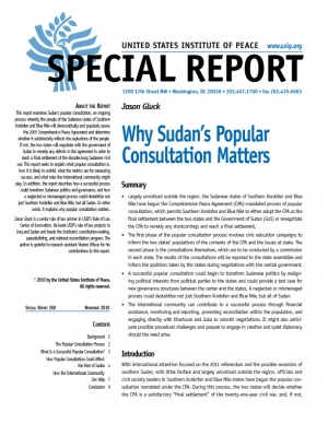 Special Report: Why Sudan's Popular Consultation Matters