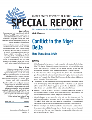 the conflict in niger delta The niger delta of nigeria is highly heterogeneous with over 40 ethnic groups who speak more than 100 languages and dialects the region comprises 185 out of the 774 local government areas and covers 9 out of the 36 states of nigeria: abia, akwa ibom, bayelsa, cross river, delta, edo, imo, ondo and rivers.