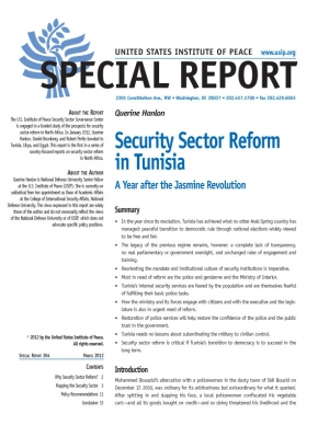 Special Report: Security Sector Reform in Tunisia
