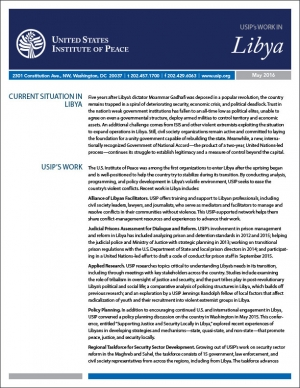 Fact Sheet: The Current Situation in Libya