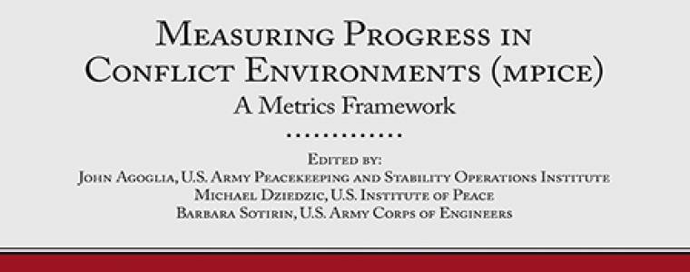 Measuring Progress in Conflict Environments book cover