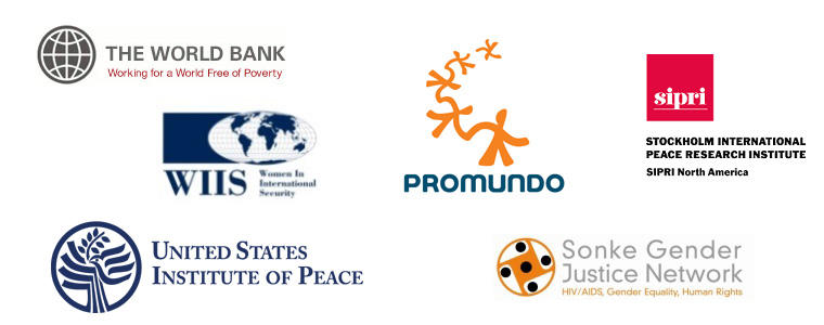 Men, Peace, and Security Symposium: Agents of Change logos