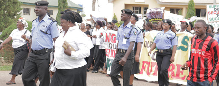 people marching in nigeria