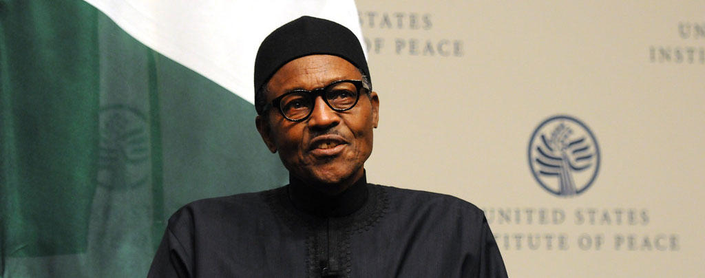 Image result for While speaking at the United States Institute of Peace (USIP) on July 22, 2015, President Buhari