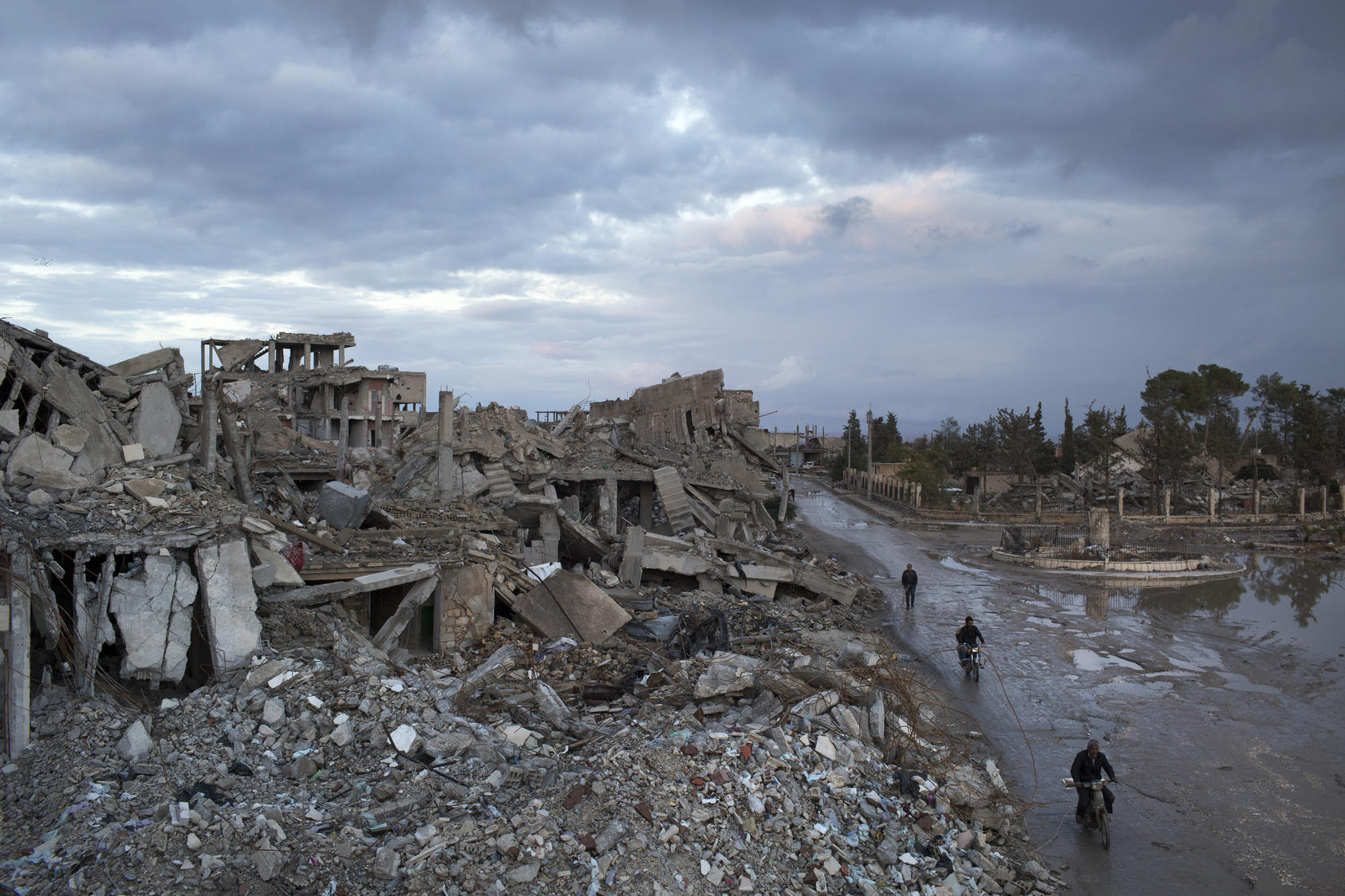 Widespread destruction in Kobani, Syria, months after coalition airstrikes and Kurdish fighters repelled an invasion by the Islamic State group, Oct. 27, 2015. The recent Turkish intervention in northern Syria conjured for many Kurds memories of broken vows by Western powers dating back to World War I, when they were promised, then denied, their own state.