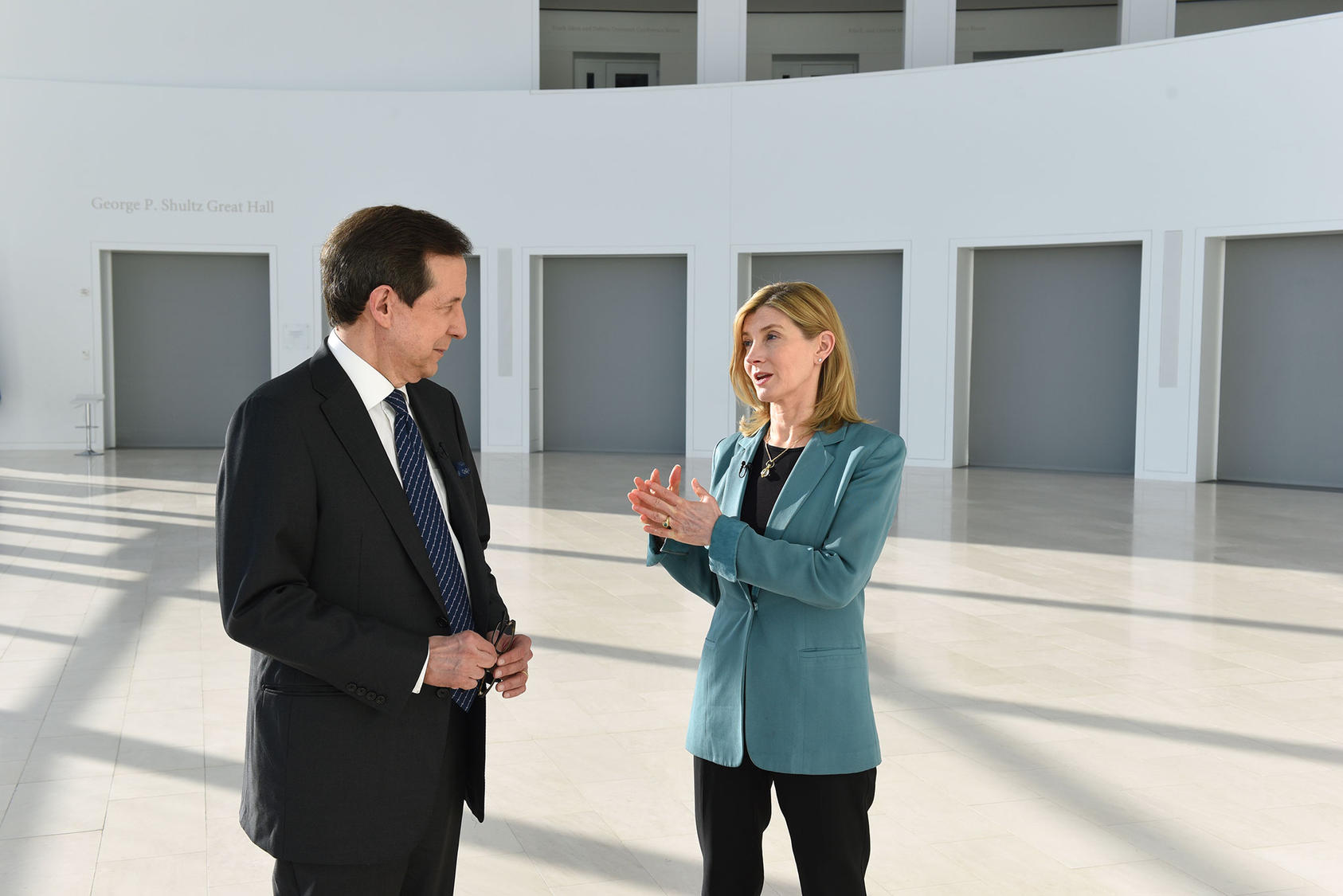 Chris Wallace and Nancy Lindborg