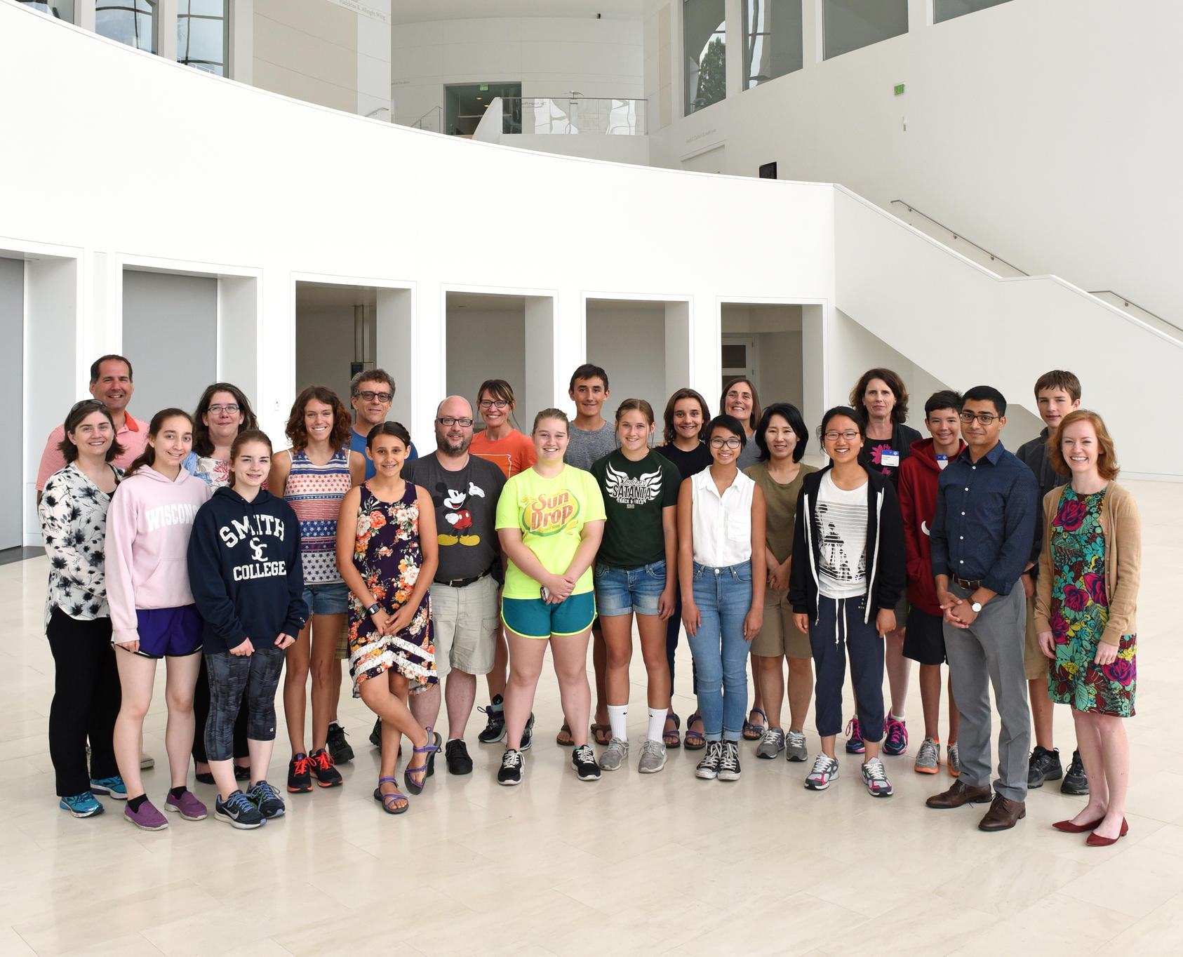 NHD participants visit the U.S. Institute of Peace during award week in June, 2016.