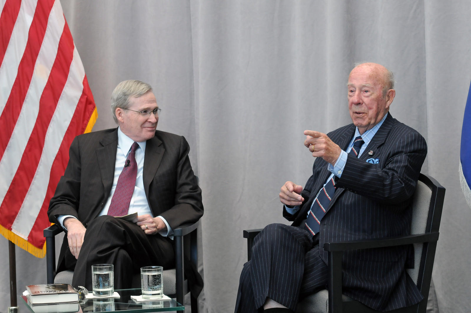 USIP Board Chair Stephen J. Hadley and former Secretary of State George P. Shultz