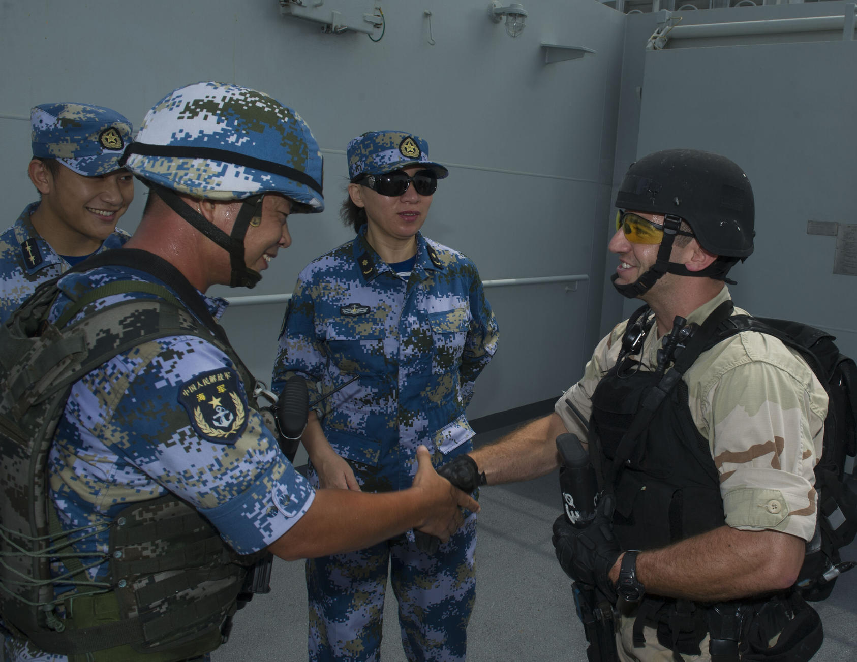 U.S.-China counter piracy exercise.