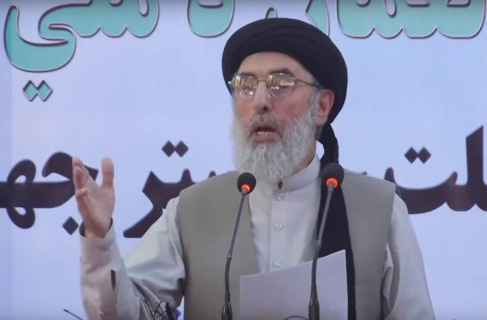 Longtime Afghan faction leader Gulbuddin Hekmatyar speaks in one of his first public appearances after nearly 20 years in hiding as he returned to Kabul in recent weeks following a peace deal with the government. (Tolo TV screenshot)