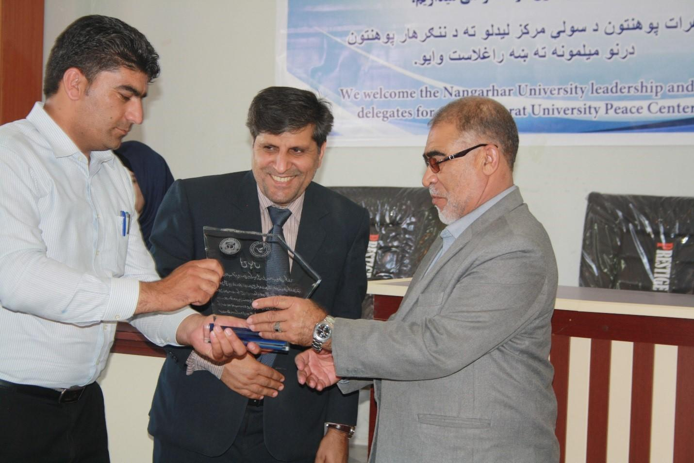 Mr. Babrak Miakhle, the chancellor of Nangarhar University, visited Herat University in August 2016 to recognize the two universities collaboration in regards to institutionalizing peace education.