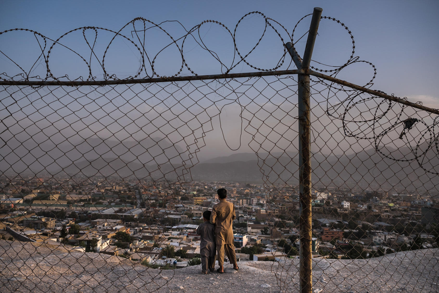 A hilltop overlooking Kabul, Aug. 15, 2016, where a $100 million Saudi-funded mosque and education complex was scheduled for completion this year -- but he site remains a dusty lot.