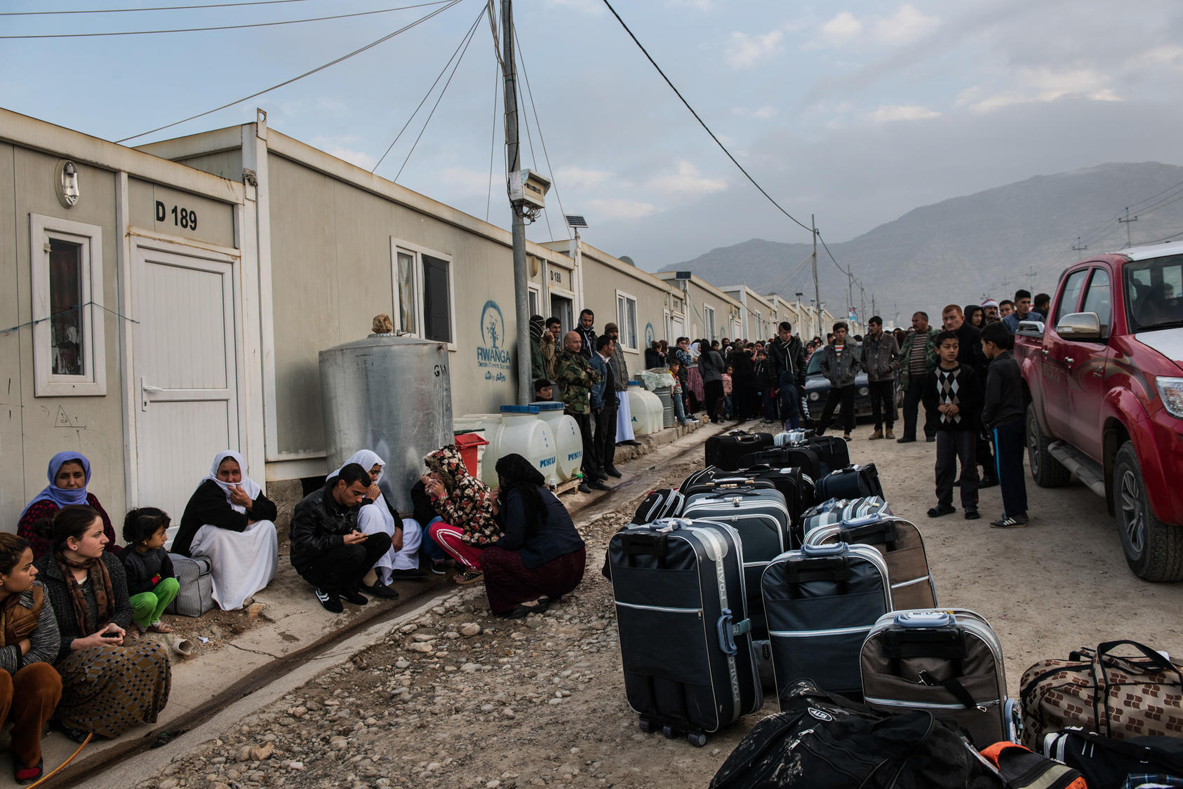 A camp for Yazidi refugees, some of whom were about to leave for resettlement in Germany, near Dohuk, Iraq, Jan. 24, 2016. Some of the women here had escaped sexual slavery at the hands of the Islamic State group, whose fighters routinely forced birth control upon them so that pregnancies would not disrupt the abuse. (Lynsey Addario/The New York Times)