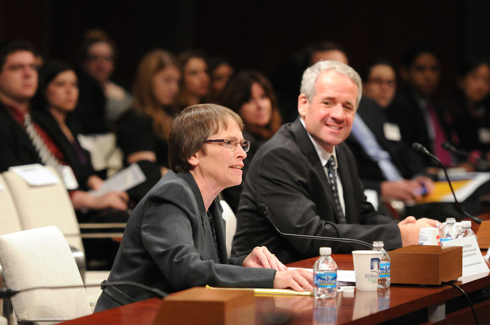 Ginny Bouvier testifying before the Tom Lantos Human Rights Commission, 2013.