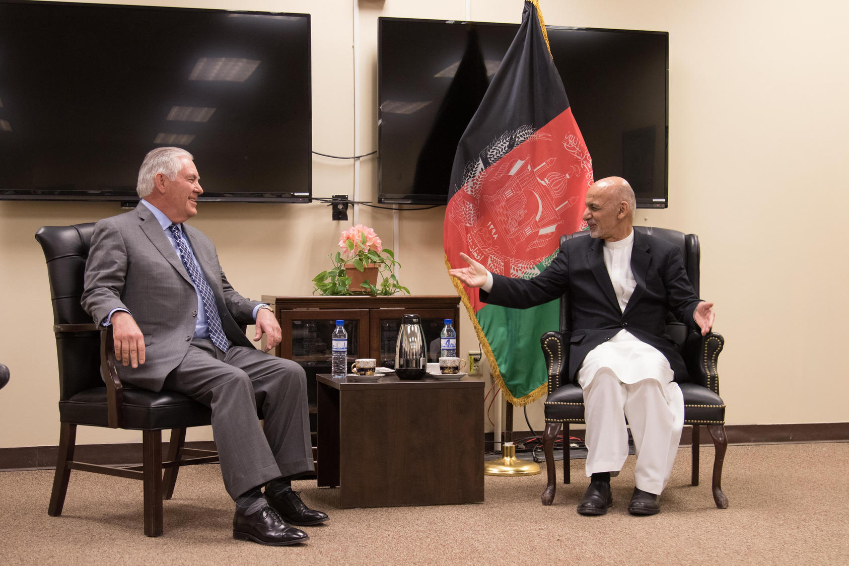 Secretary Tillerson Meets With Afghan President Ghani