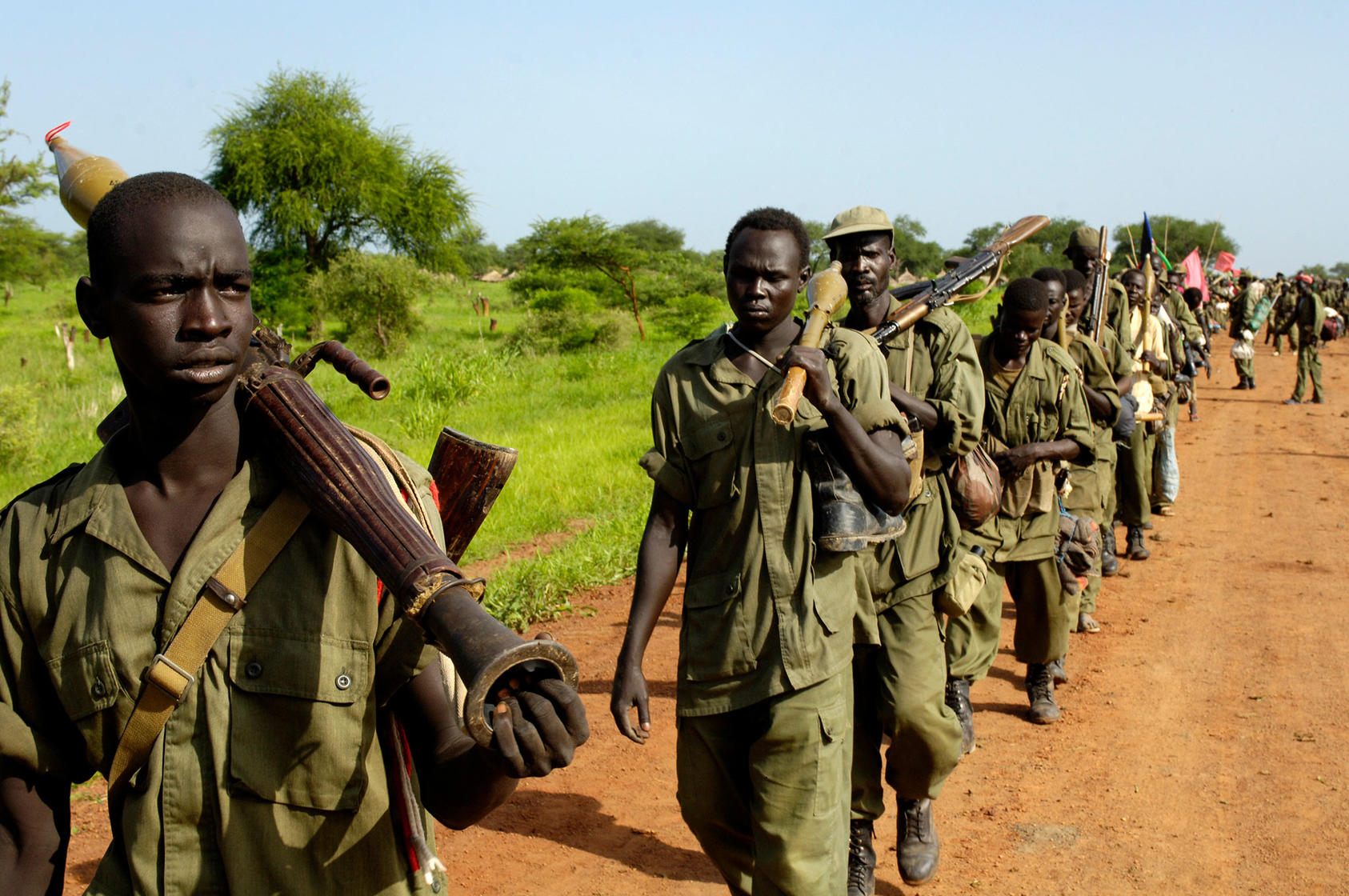 Soldiers of the Sudanese People's Liberation Army